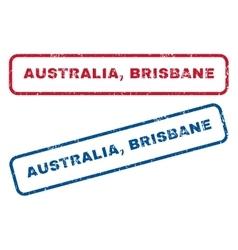 Australia brisbane rubber stamps vector