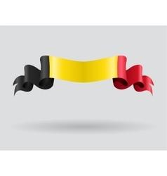 Belgian wavy flag vector image