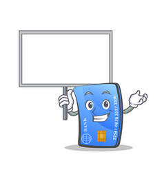 bring board credit card character cartoon vector image