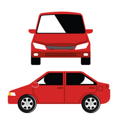 Car vehicle flont icon vector