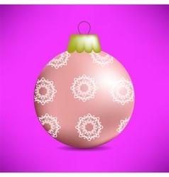 Christmas Pink Glass Ball vector image