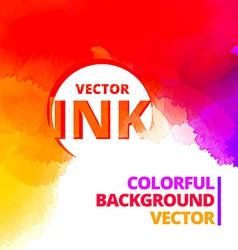 Colorful background of vibrant ink splash design vector