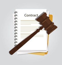 contract law concept of legal regulation judicial vector image vector image