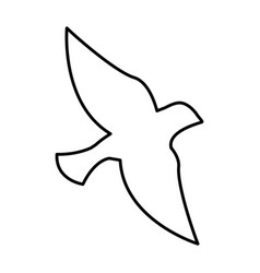 Dove silhpuette isolated icon vector