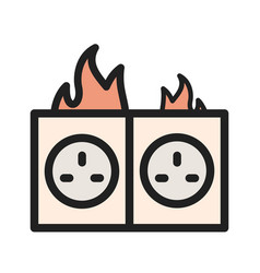 Fire in socket vector