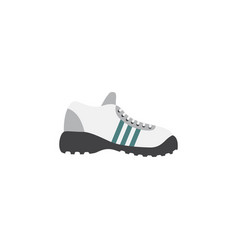 isolated gumshoes flat icon sneakers vector image