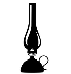 kerosene lamp old retro vintage icon stock vector image vector image