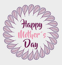 Leaves mother day symbol vector