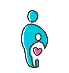 Love heart parent icon vector