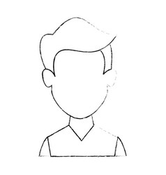 man cartoon face vector image