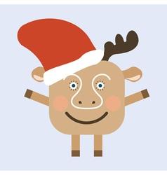 Merry Christmas deer vector image
