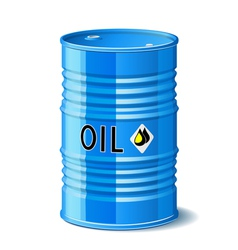 Metal barrel with oil vector