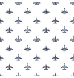 Military airplane pattern vector