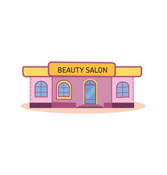 modern nice beauty salon building vector image vector image