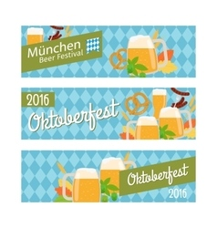 Oktoberfest 2016 horizontal banners vector image vector image
