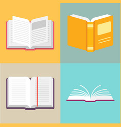 open book icons in a flat style vector image