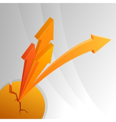 Orange abstract arrows vector image