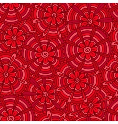 Red flowers with strips vector image vector image