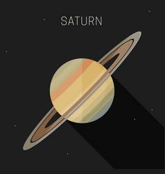 Saturn planet vector