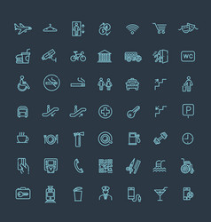 Simple set of public navigation related vector