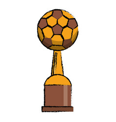 soccer award cup sport win vector image
