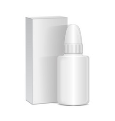 Spray nasal or eye antiseptic drugs white vector