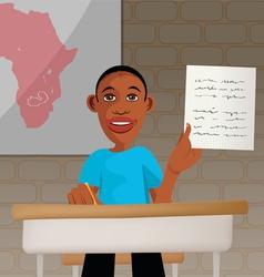 Students school africa vector