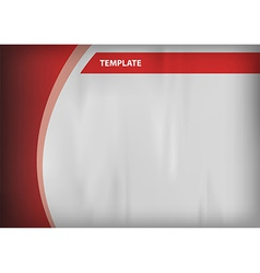 template red curve side vector image