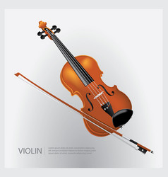 the musical instrument realistic violin vector image vector image