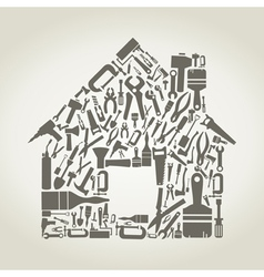 Tool the house vector