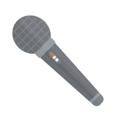 Tv news or event microphone with blank box vector