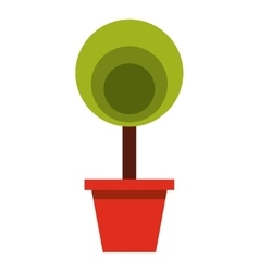 Garden pot with plant vector
