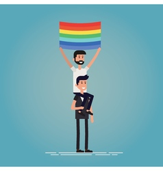 Gay pride characters vector