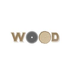 wood logo vector image