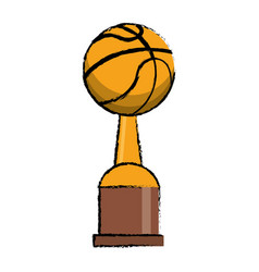 basketball award cup sport win vector image