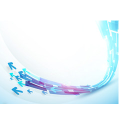 Abstract blue curve line shape background design vector