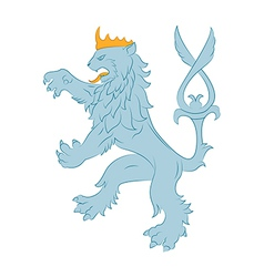 Heraldry lion vector