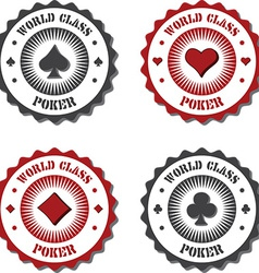 Poker and card game icons vector