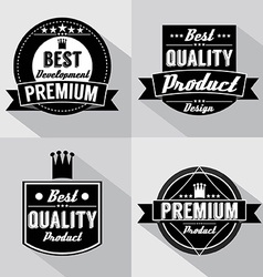 Set of vintage premium quality labels vector