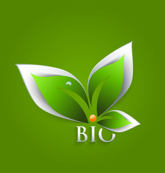 Bio green leaves abstract background vector