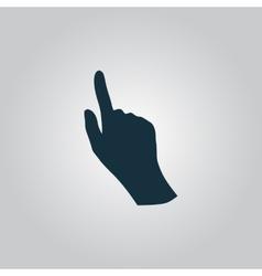 cursor hand icon vector image