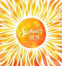 Bright watercolour sunny background vector