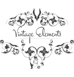 Hand drawn vintage flourishes vector