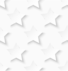 White paper seamless star pattern background vector