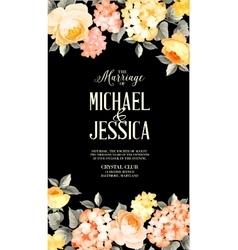 Luxurious floral card vector