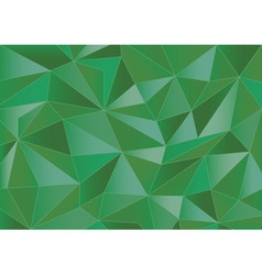 Abstract green triangles 3d background vector
