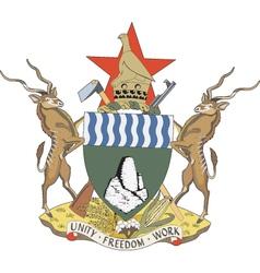 Republic of Zimbabwe vector image
