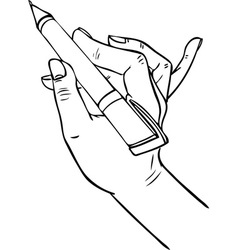 hand writing pen vector image