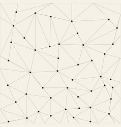 Abstract triangle background dots connected with vector