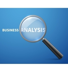 Business analysis concept background with vector image